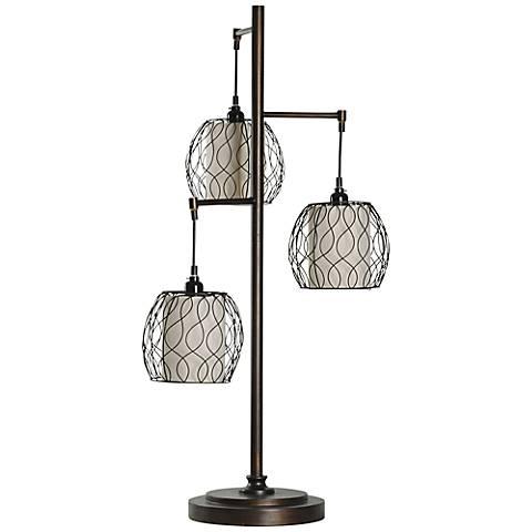 Adona Bronze Metal Cage Table Lamp