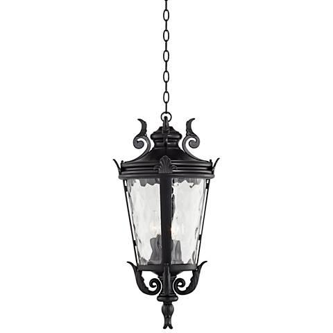 "Casa Marseille™ 26 1/4""H Black Outdoor Hanging Light"