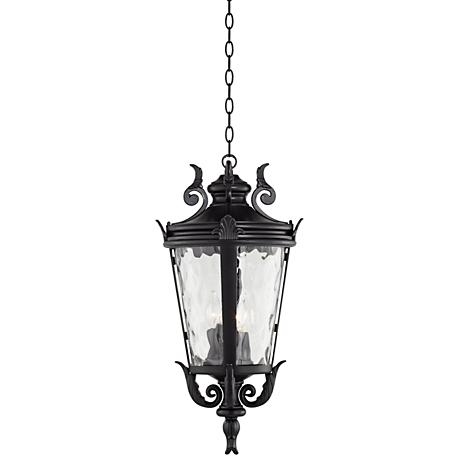 "Casa Marseille™ 26 1/4""H Black Outdoor Hanging Light"