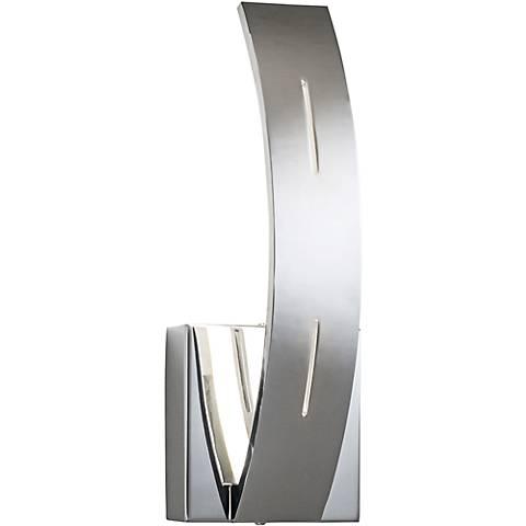 "Elan Ivis 12 1/4"" High LED Arc Chrome Wall Sconce"