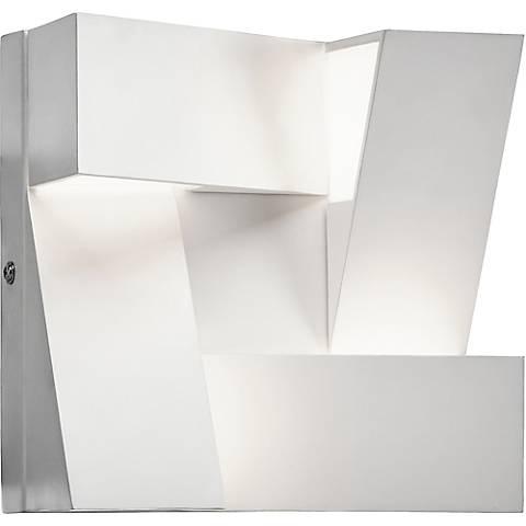 """Elan Javan 7 3/4"""" High Cool LED Modern White Wall Sconce"""