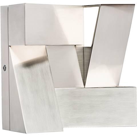"""Elan Javan 7 3/4"""" High Warm LED Modern White Wall Sconce"""