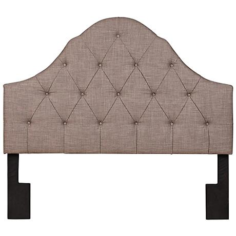Willowbrae Slate Tufted and Arched Full/Queen Headboard