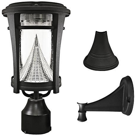 "Aurora Black 13"" High Tri-Mount Solar LED Outdoor Light"