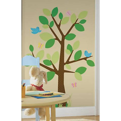 Dotted Tree Peel and Stick Wall Decal Set