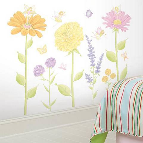 Fairy Garden Peel and Stick Wall Decal Set