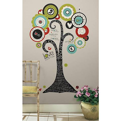 Tree of Hope Peel and Stick Wall Decal Set