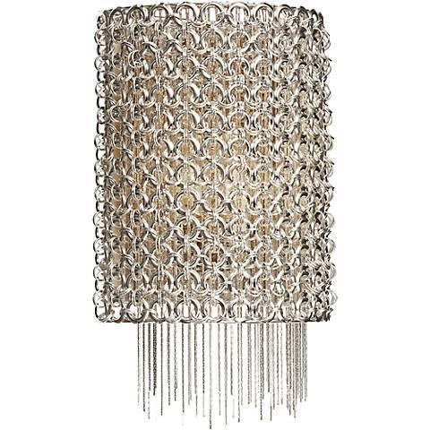 """Elan Elauna 11 3/4"""" High Brushed Nickel Wall Sconce"""
