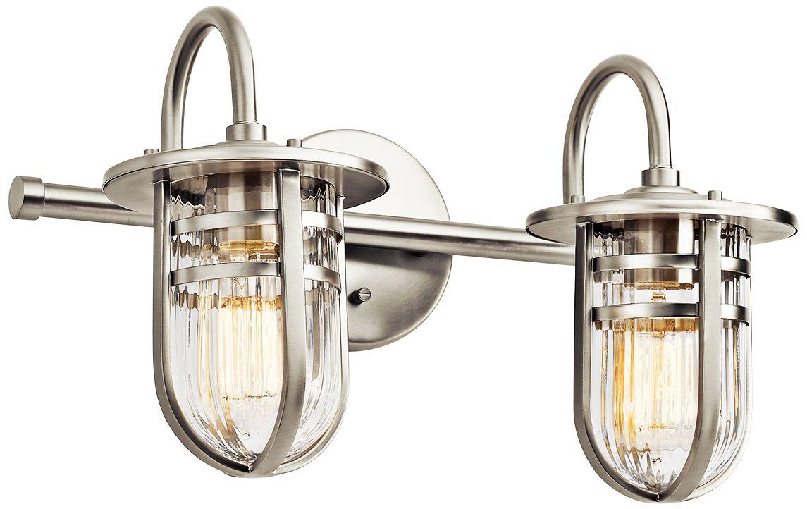 Kichler Caparros 17 12 Wide 2Light Nickel Bath Light 8F465