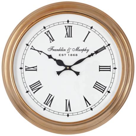 Wall Clocks Lamps Plus : Sherrard Light Brown 14