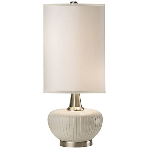 Thumprints Blanco White Table Lamp