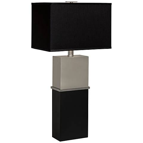 Thumprints Arc de Triumph Brushed Nickel Table Lamp