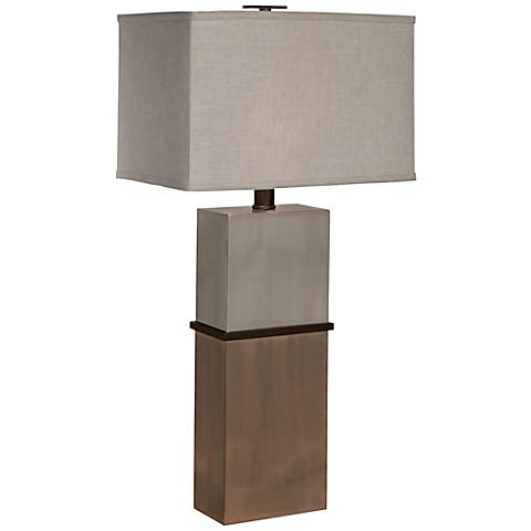 Thumprints Taurus Nickel and Bronze Table Lamp