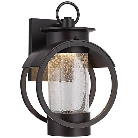 "Arbor 13 1/2"" High Bronze LED Outdoor Wall Light"