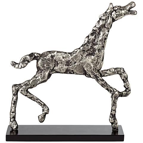 "Stylish Horse 12 1/2"" High Decorative Statue"
