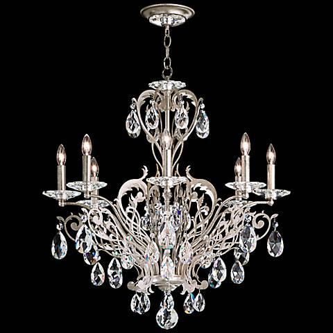 "Schonbek Filigrae 26""W Antique Silver 8-Light Chandelier"