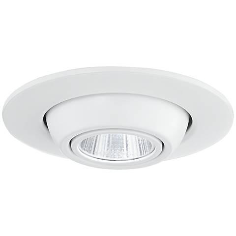 "4"" White Adjustable Eyeball LED Retrofit Downlight Trim"