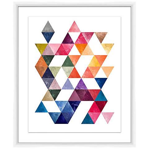 "Modern Triangles I 25 1/2"" High Framed Wall Art"