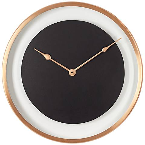 "Anson Copper and Black 17"" Round Wall Clock"