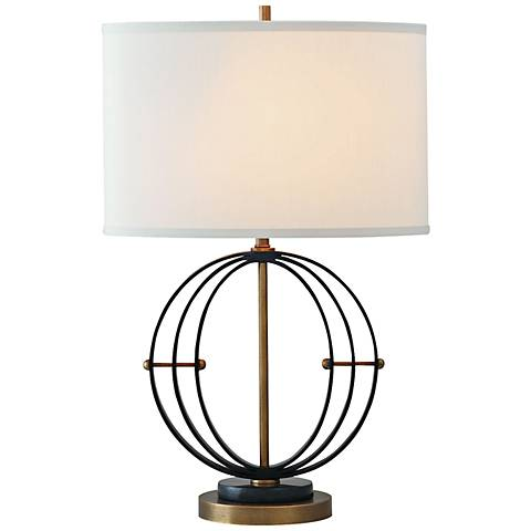 Port 68 Andrew Aged Brass Cast Metal Table Lamp