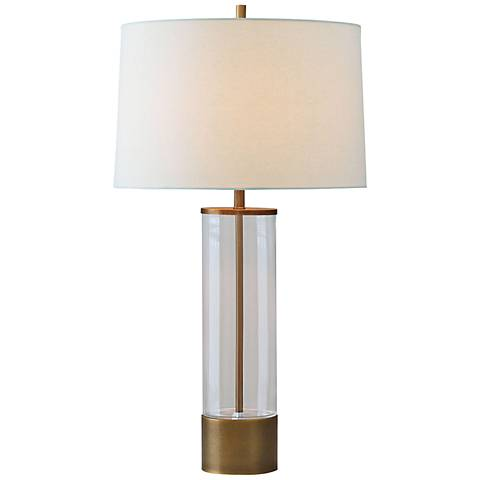 Port 68 Evanston Gold Plated Clear Glass Table Lamp