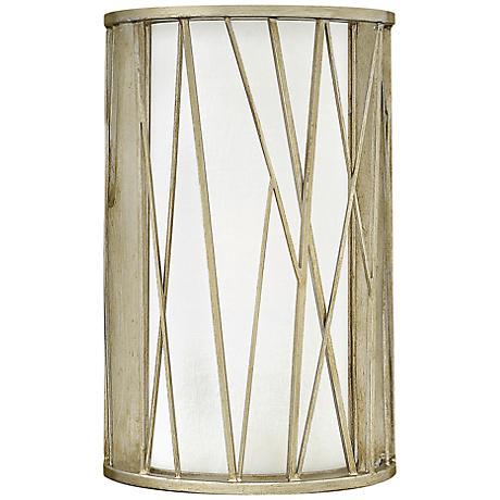"Fredrick Ramond Nest 9"" High Silver Leaf Wall Sconce"