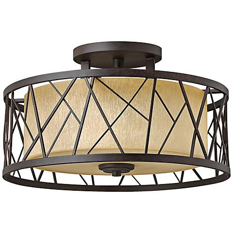 "Nest 20""W Oil-Rubbed Bronze Ceiling Light"