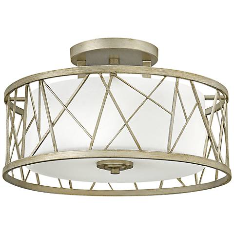 "Fredrick Ramond Nest 20"" Wide Silver Leaf Ceiling Light"