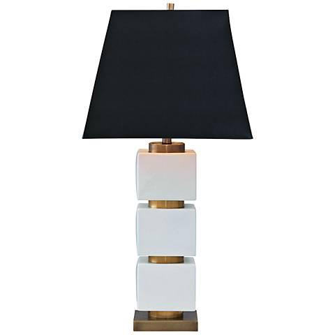 Port 68 Manhattan Ivory Porcelain Table Lamp