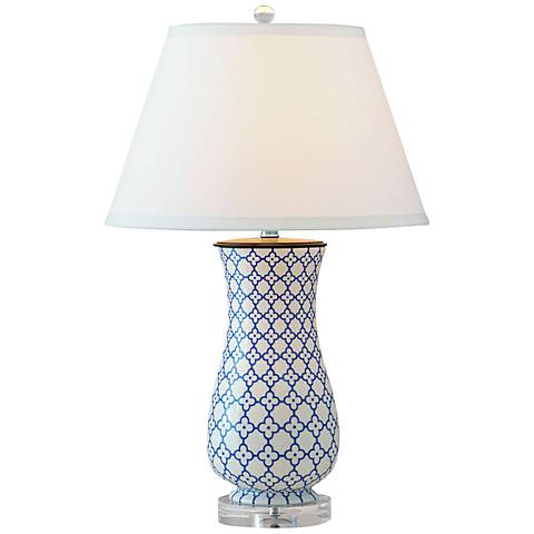 Port 68 Clover Hand-Painted Porcelain Table Lamp