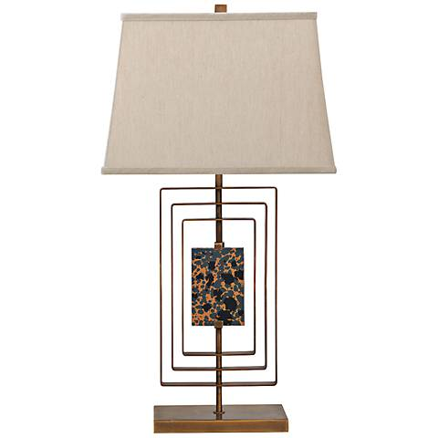 Port 68 Sawyer Aged Brass Steel Table Lamp