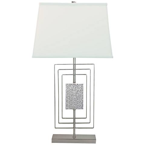 Port 68 Sawyer Plated Nickel Steel Table Lamp