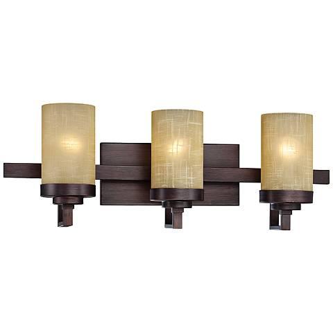 "Castello 22 1/2"" Wide 3-Light Tuscana Bronze Bath Light"