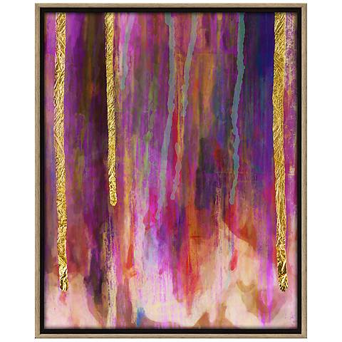 """Paint Drips I 31 3/4"""" High Abstract Canvas Wall Art"""