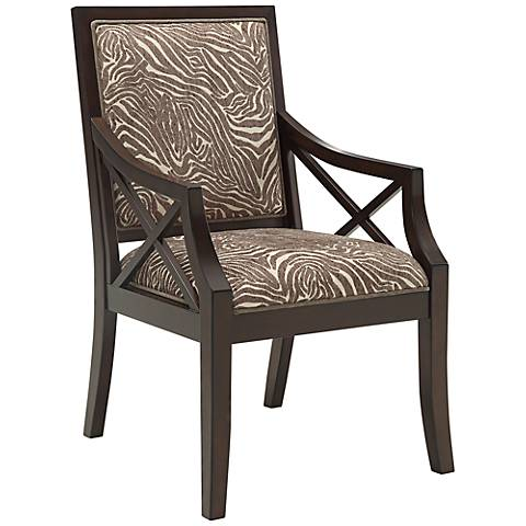 Amalfi Animal Print Cowie Espresso Square-Back Accent Chair