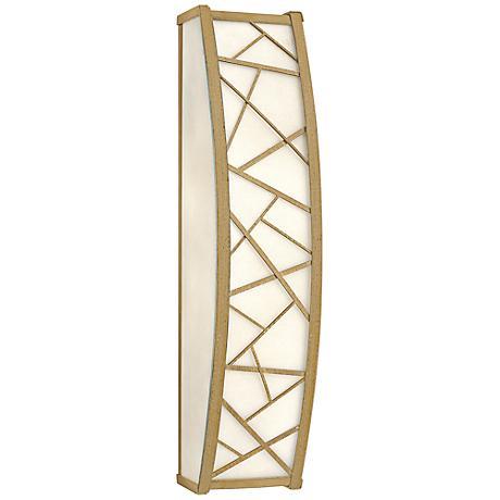 "Fredrick Ramond Nest 24"" High Silver Leaf Wall Sconce"