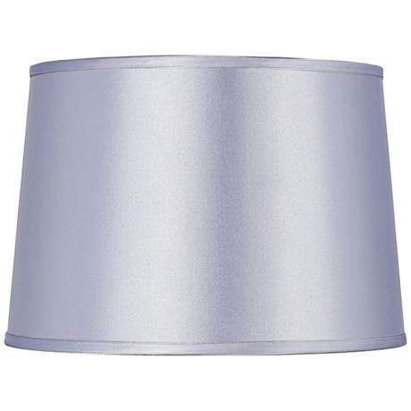 Sydnee Periwinkle Satin Drum Lamp Shade 14x16x11 (Spider)