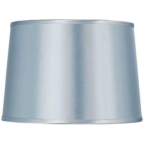 Sydnee Pale Blue Satin Drum Lamp Shade 14x16x11 (Spider)