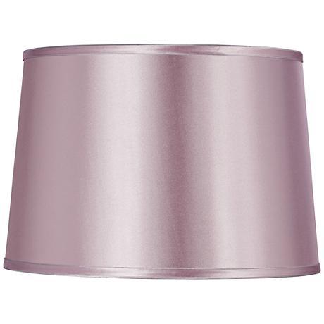 Sydnee Lavender Satin Drum Lamp Shade 14x16x11 (Spider)