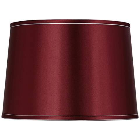 Sydnee Merlot with Silver Trim Drum Shade 14x16x11 (Spider)