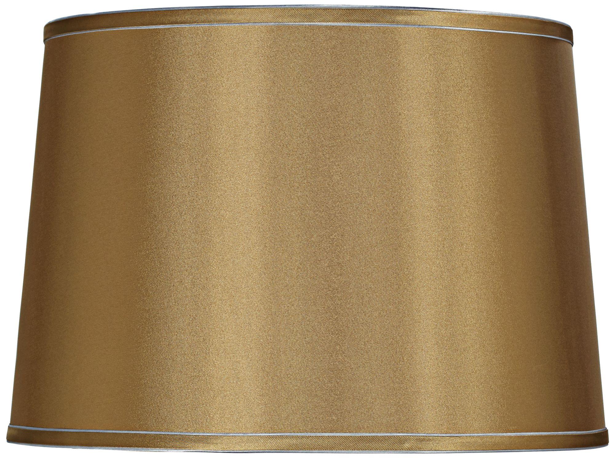 sydnee gold with silver trim drum shade 14x16x11 spider