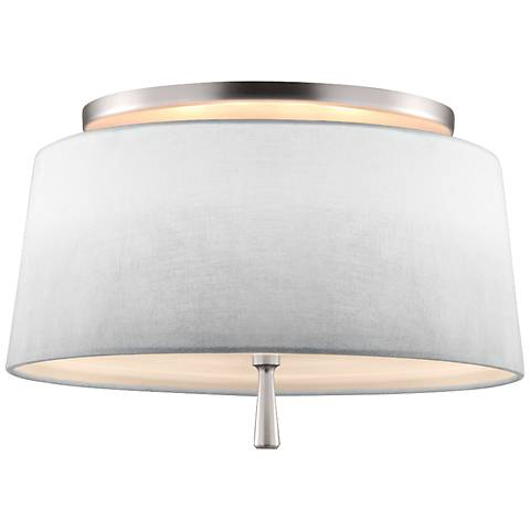 "Feiss Tori 14"" Wide Satin Nickel Ceiling Light"
