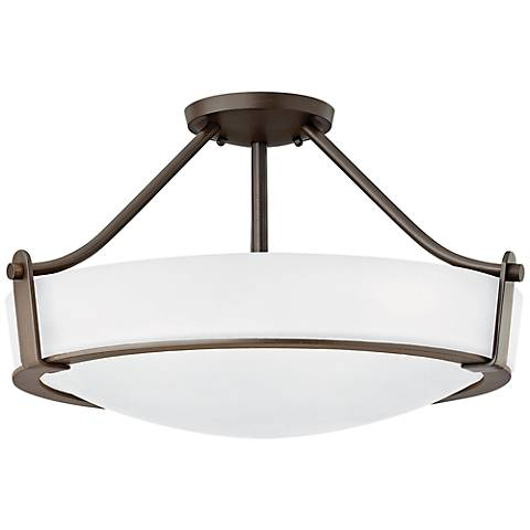 """Hinkley Hathaway 20 3/4""""W Olde Bronze Etched Ceiling Light"""