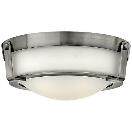"Hinkley Hathaway 13""W Antique Nickel Ceiling Light"