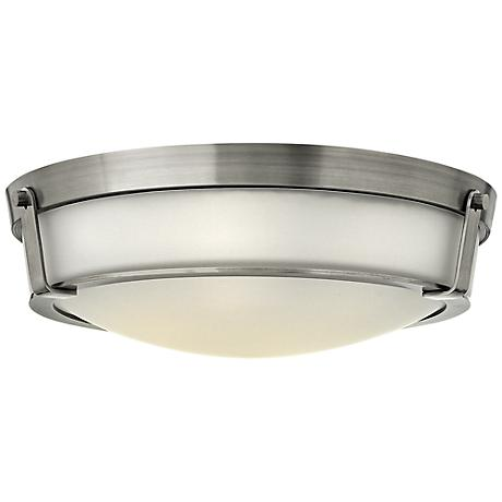 """Hathaway 21 1/4""""W Antique Nickel Etched Ceiling Light"""