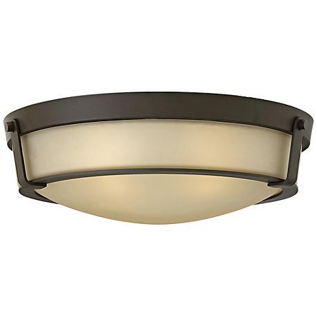 "Hinkley Hathaway 21 1/4""W Olde Bronze Amber Ceiling Light"