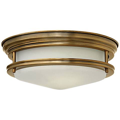"Hinkley Hadley 12"" Wide Brushed Bronze Opal Ceiling Light"
