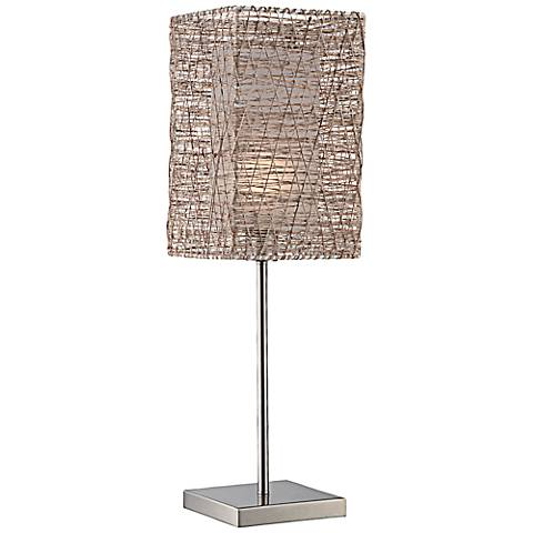 Lite Source Cora Polished Steel Metal Table Lamp
