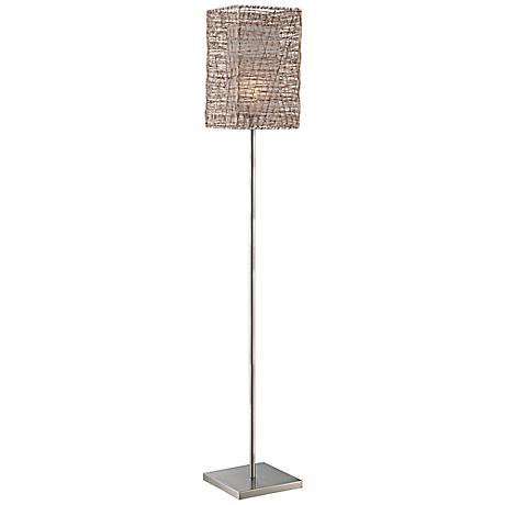 Lite Source Cora Polished Steel Metal Floor Lamp