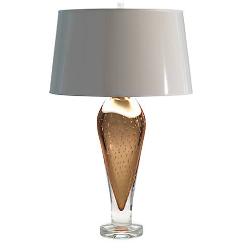 Golden Bubble Art Glass Table Lamp